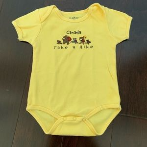 Other - Canada 'Take a Hike' onesie in yellow, size 18 mo